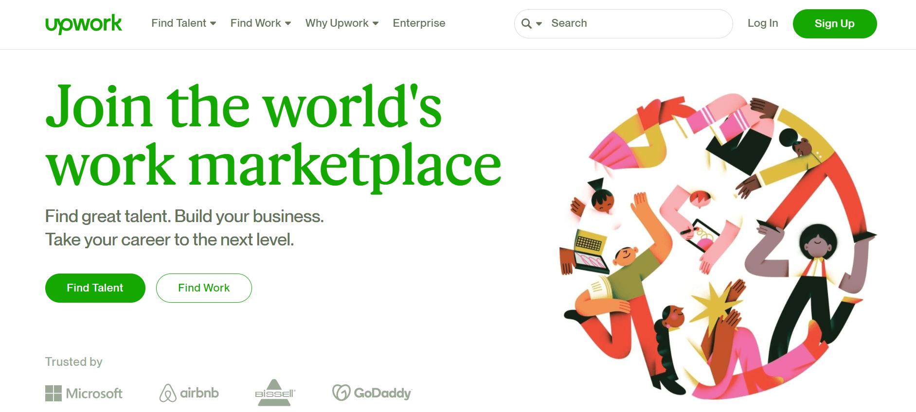 Upwork money earning website