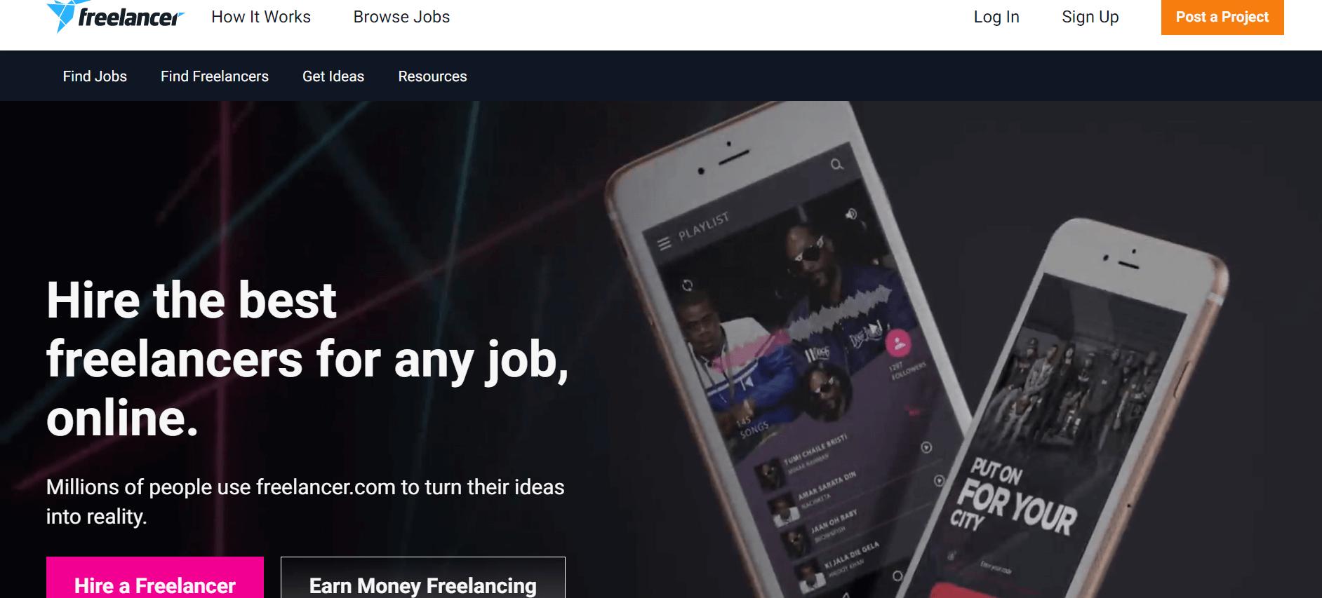 freelancer money earning website