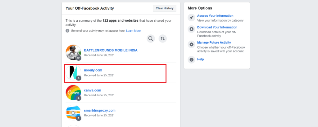 stop facebook from tracking your web acitvity