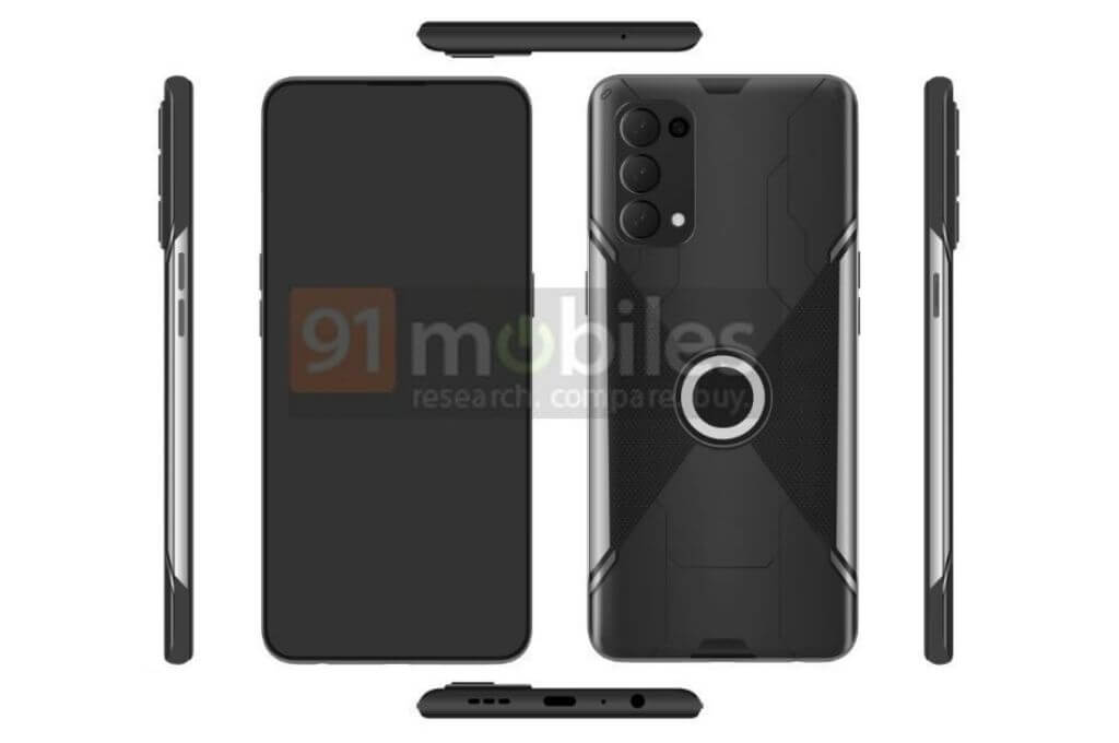 OPPO gaming smartphone design leak